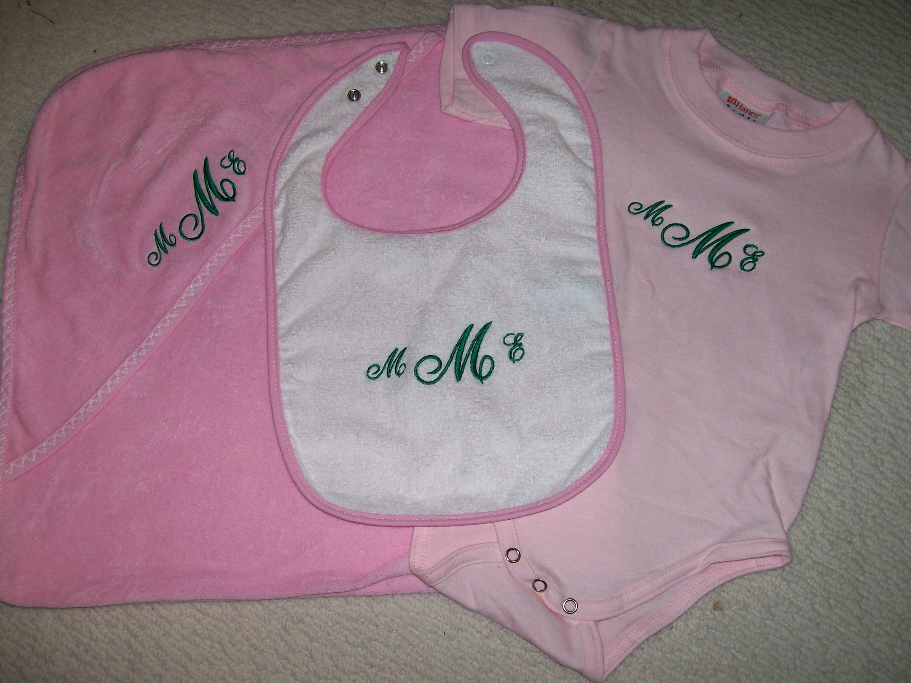 Bib, Onesie, Hooded towel
