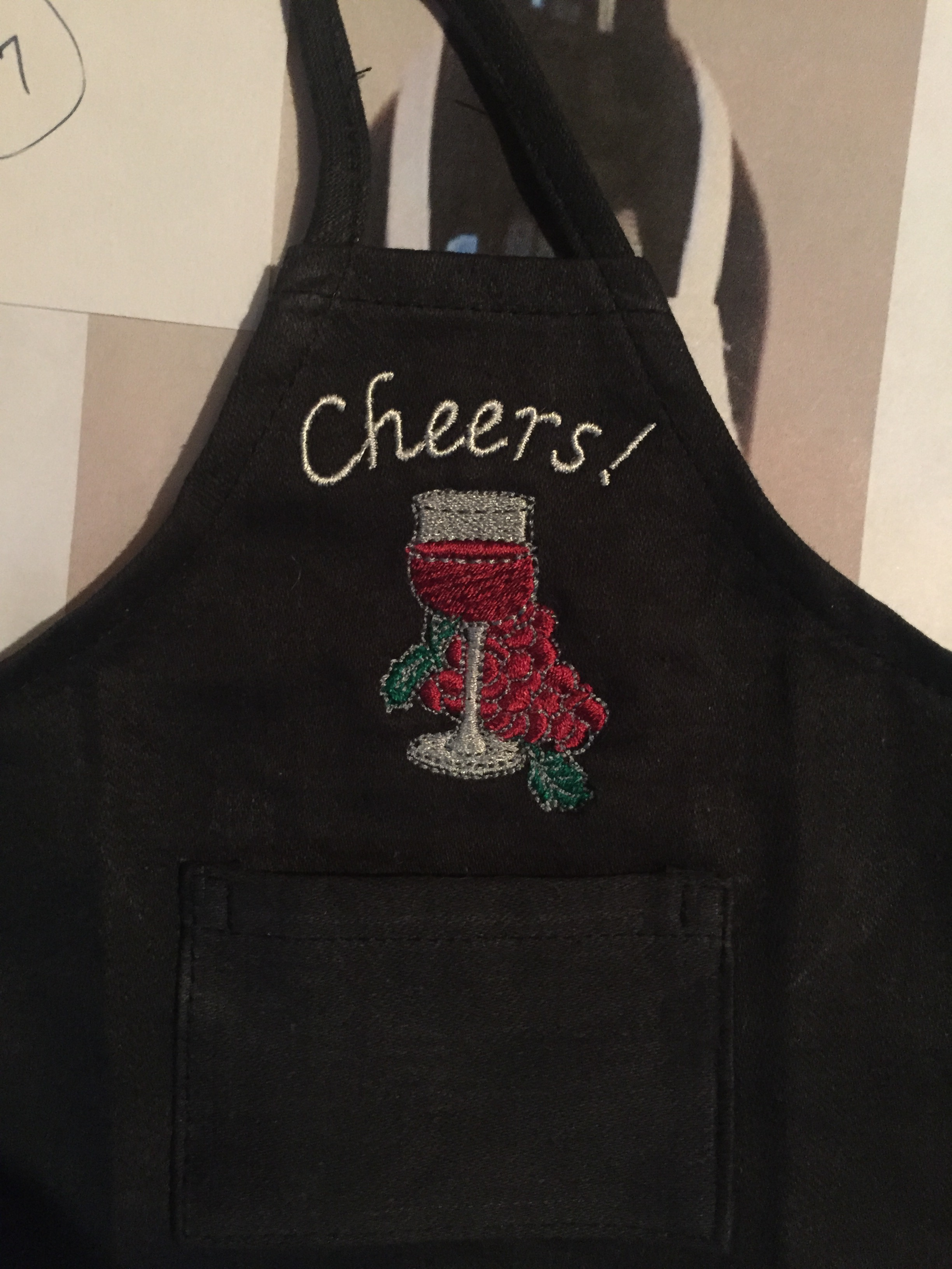 Wine Bottle Apron